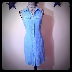 NWT full button front shirt dress. Spence, Small